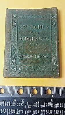 Vintage Speeches and Addresses of Abraham Lincoln Little Leather Library 1920'S