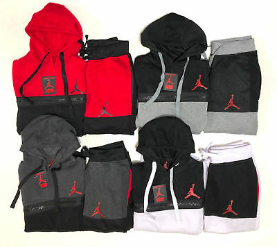 huge selection of 742f4 cb51d New Nike Air Jordan Icon Sweatsuit For Men Full Suit Hoodie + Pants