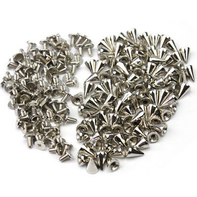 100 x Punk Spike Rivet Screw Bead DIY Metal Cone Studs Nailhead Spots Rock