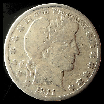 1911-S Barber 90% Silver Half Dollar Ships Free. Buy 5 for $2 off