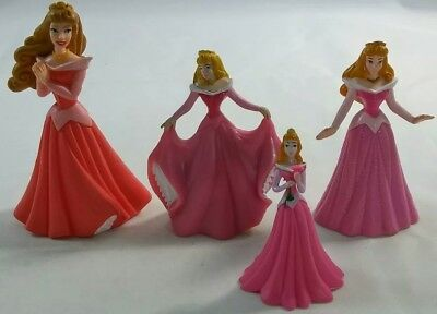 Disney Sleeping Beauty PVC Figures Toys Cake Toppers Princess Lot of 4