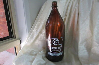 Nt Draught Beer Darwin Stubbie 2.25 Litre Bottle No Longer Made Circa 1970's