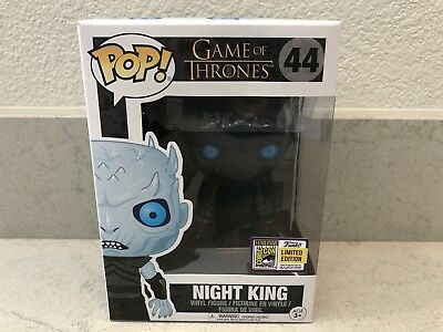 Funko POP Game of Thrones Night King SDCC Translucent 2017 Limited Edition w/Pro