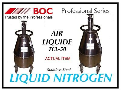 Liquid Nitrogen Dewar Storage Tank Professional Wheeled Stainless Steel Unit