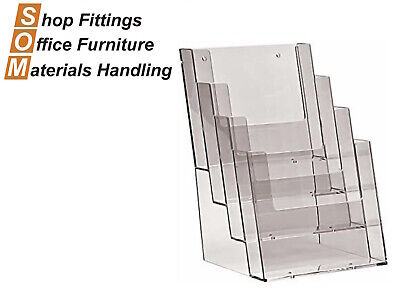 4 Tier Acrylic Plastic A4 Brochure Holder Display Stand