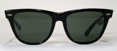 b151d864ba3b ... spain vintage ray ban black wayfarer ii sunglasses usa glass lens bl  a5635 xsas a7be5 30d14