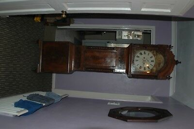 Antique Welsh Longcase Clock  cant maker out maker welsh looks like swansea 1850