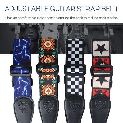 Adjustable Guitar Strap Comfortable 50mm Wide for Bass Electric Acoustic 8T