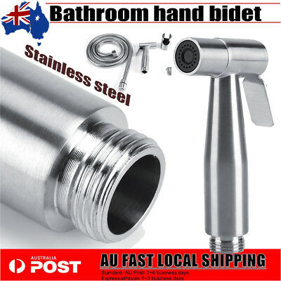 Stainless Steel Hand Held Shower Head Douche Bidet Toilet Spray Jet Shattaf Kit