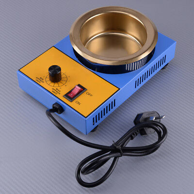 220V 300W 100MM Electric Solder Pot Tin Melting Furnace Casting Pouring Crucible