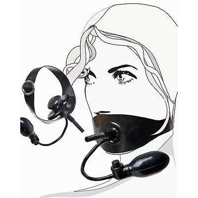 Inflatable Latex  Gummi Rubber Butterfly Mouth Gag with Pipe (optional colors)