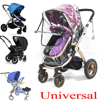 Universal Rain Cover Raincover For Baby Buggy Pushchair Stroller Pram Clear Zip