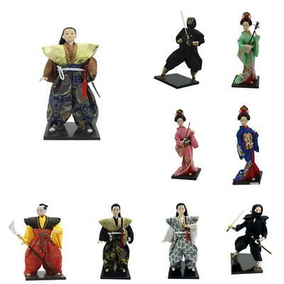 12'' Japanese Samurai Kimono Doll Geisha Kabuki Doll Model Girl Gift Collection