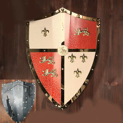 D21 Europe Retro Medieval Shield Antique Knight Armour Wall Home Decor Full Size