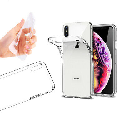 Silicone Transparent Cover Case For LG iPhone 8 X XS MAX Samsung S8 S9 + Note 9