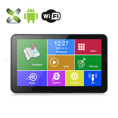 XGODY 7'' Portable Car Auto GPS Navigation Android 4.4 OS WIFI Function 16GB ROM