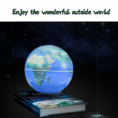 3 inch Rotatable Magnetic Levitation Globe Floating Earth World Map Book 1Q