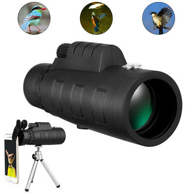 50X60 Zoom Optical 18X HD Lens Monocular Telescope + Tripod +Clip for Cell Phone