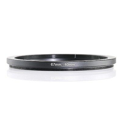 67-60 67mm-60mm 67mm to 60mm 67-60mm Step Up Ring Filter Adapter Black