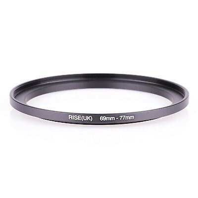 69mm-77mm Step Up Ring 69-77 DSLR Camera / 69mm Lens to 77mm Filter Cap Hood acc