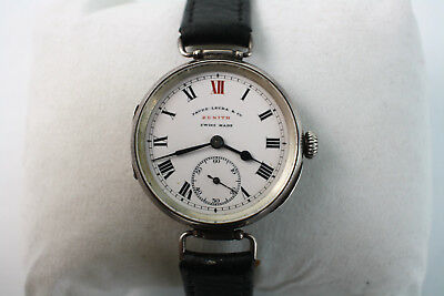 Rare ? Antique Favre - Leuba Zenith Ww1 Era Silver Trench Watch