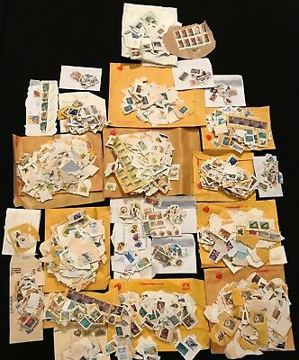 AUSTRALIA  1kg+ of Mixed USED Australian Stamps Kiloware on paper values to $5