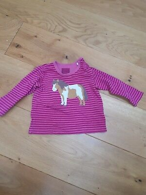 Girls Joules pink Long Sleeved Top 9-12 Months