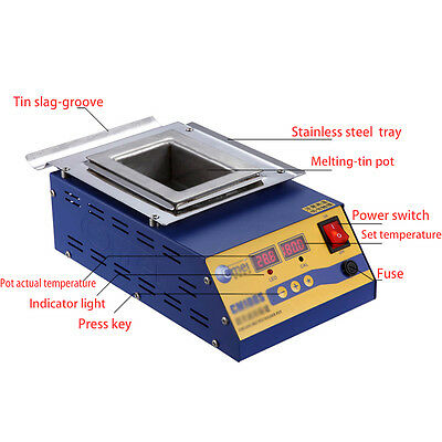 110V 900W Digital Preheat Soldering Pot /Preheat Station Square Tin Pot 15*10cm