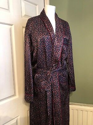 Vintage French Paisley Pattern Mens Dressing Gown M L