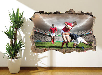 Refroidir Rugby Plaquage Sports Stade Autocollant Mural Décoration (45914391)