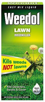Weedol  Lawn Weedkiller 1Ltr - Selective Lawn Weed Killer treats up to 667m2