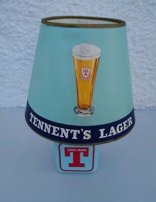 Tennents Lager Vintage 1960s 1970s Breweriana Pub table lamp with original shade