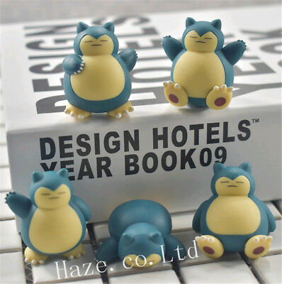 4.5cm 5pcs/set Pokemon Go Snorlax PVC Figure Toys Collection Good Present