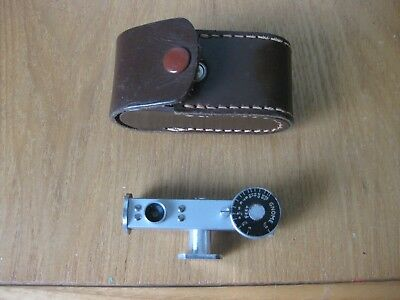 Gnome add-on rangefinder for vintage cameras, with case, 1950s