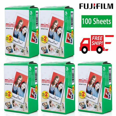 100 Sheet Fujifilm Instax Film Fuji instant photos 7s 8 90 25 Polaroid 300 BBY