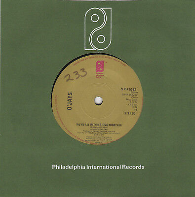 """The O'Jays - We're All In This Thing Together/Feelings 7"""" UK Philadelphia 1977"""