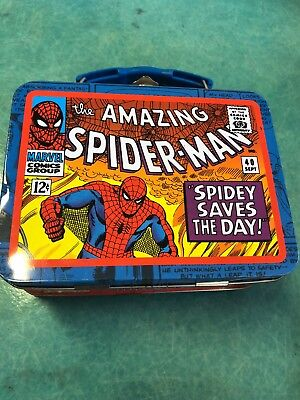 Spiderman Tin Metal Lunch Box. Marvel.