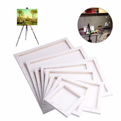 Blank Art Canvases White Stretched Artist Cotton Board Oil Acrylic Paint Canvas