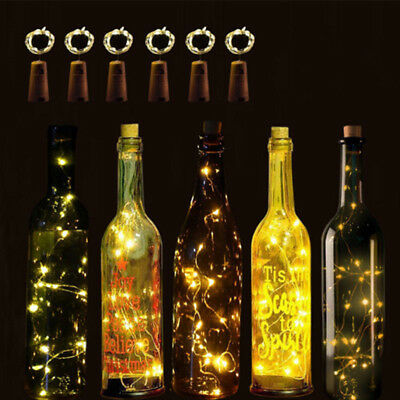 1 pcs Wire Wine Bottle Cork Battery Operated Micro Fairy String Lights 2M 20LED