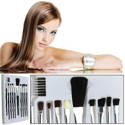 10 Make Up Brushes Makeup Brush Set Foundation Blusher Blending Assorted Bogof!