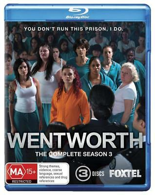 Wentworth The Complete Season 3 - Brand New - Blu Ray