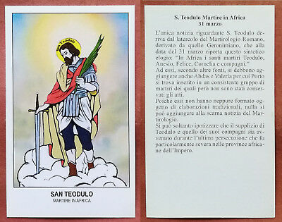 Santino Holy Card: S. San Teodulo - Martire in Africa