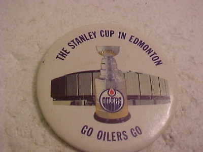 Nhl Team Edmonton Oilers The Stanley Cup In Edmonton Pinback Button