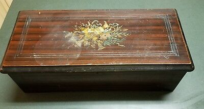 Antique Victorian Cylinder Music Box Good Condition See Video