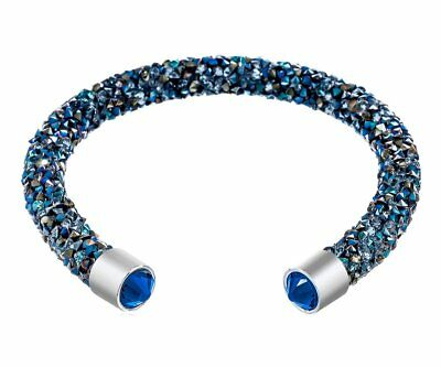 Crystal Blue Dust Swarovski Elements Etcbuys Paved Girl Gifts Cuff Bangle