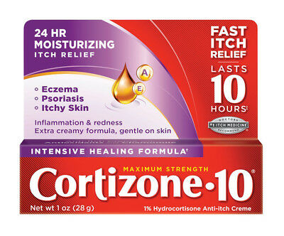 Cortizone 10 Maximum Strength Intensive Healing Formula Anti-Itch Creme 1oz 28g
