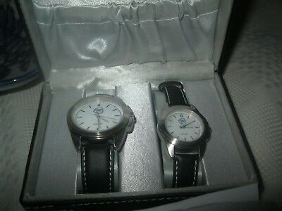 World POKER TOUR Official HIS/HERS Watch Set  GIFT  CASE  ( LIFETIME WARRANTY )