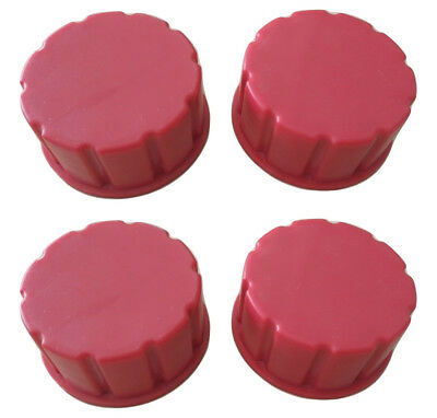 Gas Can Replacement Solid Base Caps-Universal Pack of 4