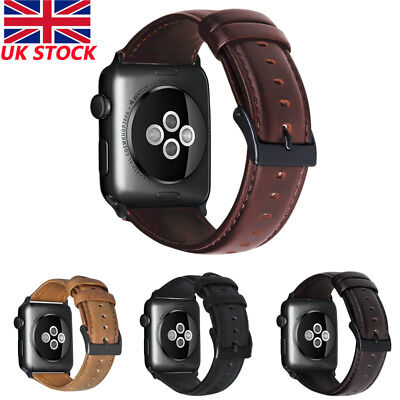 Genuine Leather Strap Band Cuff Bracelet for Apple Watch 4 3 2 1 38/42mm iWatch