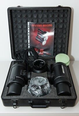System Compact Powerful Studio & Location  Flash Two head lighting Kit in Case